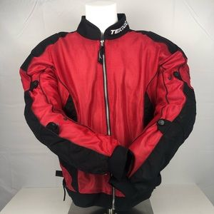 Teknic Red and Black Protective Motorcycle Jacket